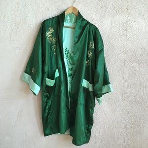 VINTAGE GREEN DRAGON ROBE